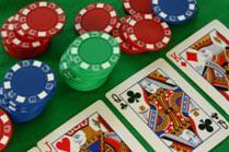 Poker jetons cartes flop rivière